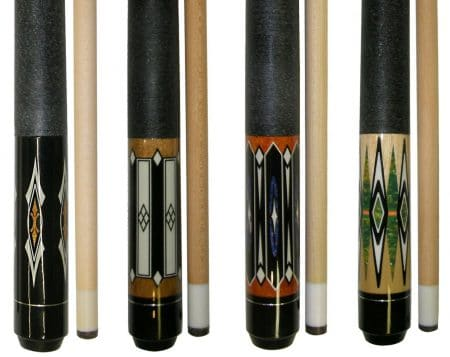 "Lot of 4 - 58 "" 2 Piece Hardwood Canadian Maple Pool Cue Billiard Table Stick 18 - 21"