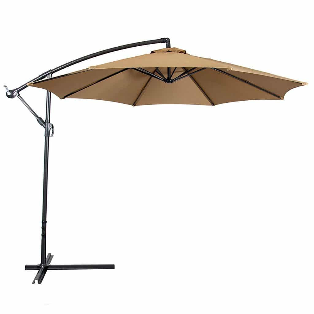 top 15 best offset patio umbrellas 2018 - buyer's guide (august. 2018) Best Patio Umbrella