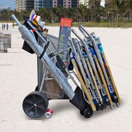 Super Ultimate Ultra Wide Wheel Wonder Wheeler Beach Cart