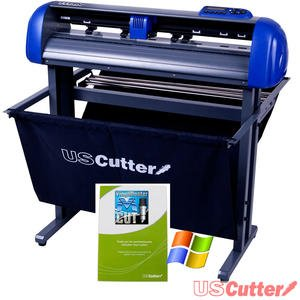 USCutter TITAN 28 inch Vinyl Cutter with Stand, Basket and VinylMaster Cut