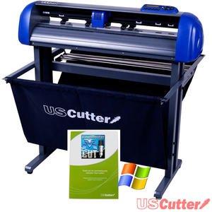 USCutter TITAN 28 inch Vinyl Cutter with Stand, Basket and VinylMaster Cut