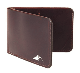 Mens Minimalist Wallet RFID Blocking - Slim Leather Bifold Wallet by Rugged Material