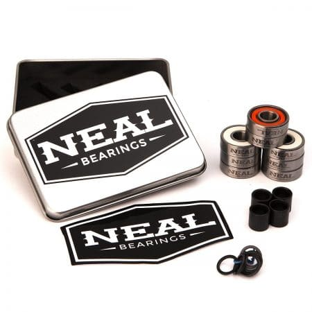 NEAL Precision Skate Bearings / 3 Different Types - Ceramic - Swiss - Titanium / 608rs - Skateboard - Longboard - Inline - Scooter.