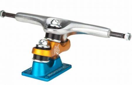 """Gullwing Sidewinder II Longboard Trucks - Blue/Orange - 10.0"""""""
