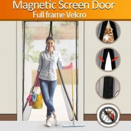 BESTOPE, Magnetic Screen Door Heavy Duty Magic Mesh Curtain Screen and Full Frame