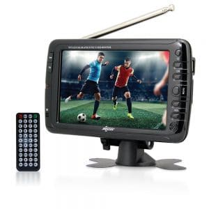 Axess 7-Inch, LCD TV with ATSC Tuner, Rechargeable Battery and USB/SD Inputs