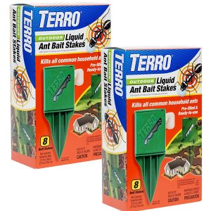 Terro T1812-2 Outdoor Liquid Ant Killer Bait Stakes (2 Pack)