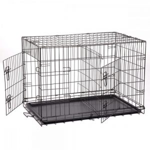 BestPet Pet Wire Cage with Metal Pan, 36-inch