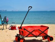 Ollieroo Outdoor Utility Wagon Folding Collapsible Garden Beach Shopping Cart