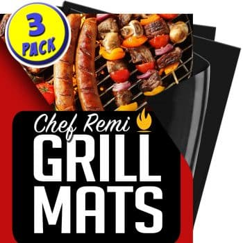 Chef Remi BBQ Grill Mat | Lifetime Replacement Warranty