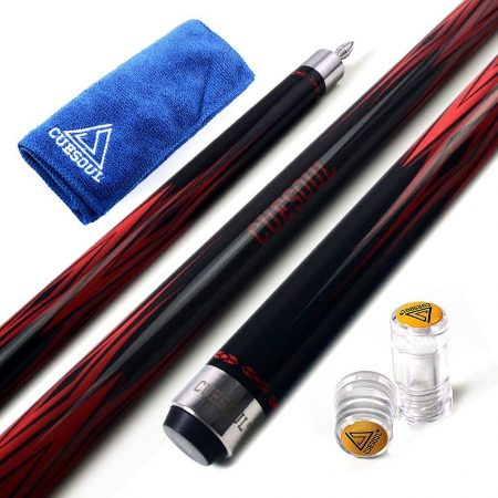 "CUESOUL SOOCOO Series 58"" 2 Piece Maple Billiard Pool Cue Sticks-19OZ"