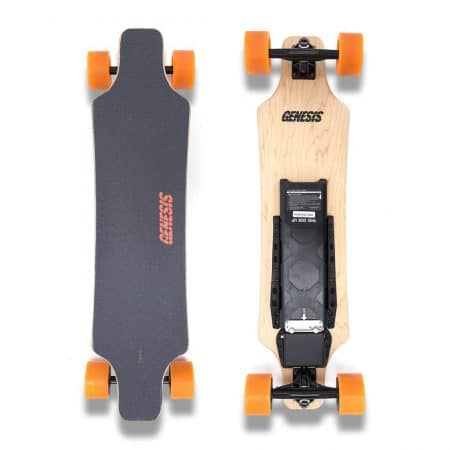 Genesis Hellfire Electric Skateboard - Orange Wheels