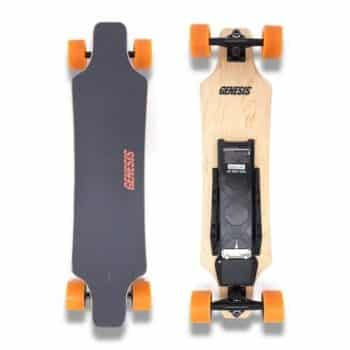 Genesis Hellfire Electric Skateboard - Orange Wheels