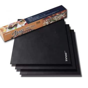 "BBQ Grill Mats Up to 400% Thicker Than Others Set of 3, 16"" x 13"" Works on Gas"