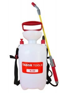 TABOR TOOLS 1.3 Gallon Lawn and Garden Pump Pressure Sprayer