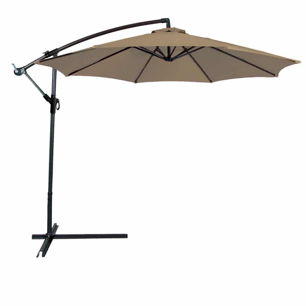 Odaof 10 ft Patio Umbrella Offset Hanging Umbrella Outdoor Market Umbrella Garden Umbrella