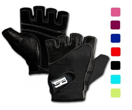 RIMSports, Gym Gloves For Powerlifting, Weight Training, Biking, Cycling - Premium Quality Weights Lifting Gloves
