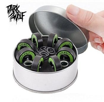 8 pcs Dark Wolf Skateboard Bearings Came with Spacers and Washers