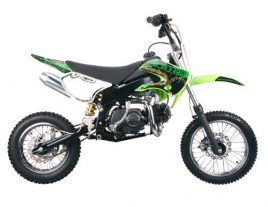 Dirt bike 125cc Manual Clutch, Green