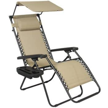 best choice products zero gravity chairs canopy sunshade lounge chair
