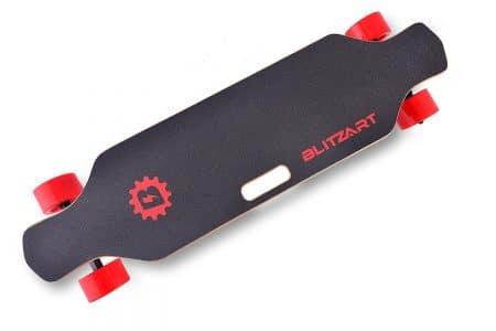 "BLITZART Huracane 38"" Electric Longboard E-Skateboard Motorized Electronic Hub-Motor 3.5"" Wheels"