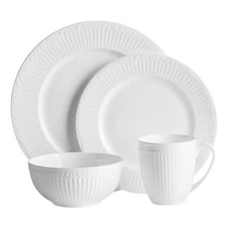 Mikasa Italian Countryside Bone China 48 Piece Dinnerware Set, Service for 12