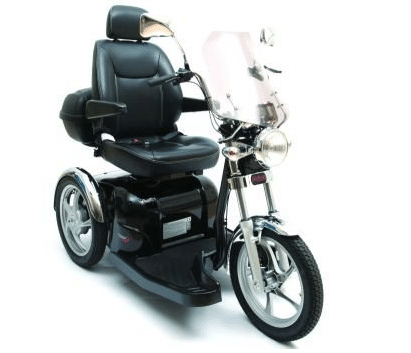 Pride Mobility SPORT RIDER Single Seat Trike 3-wheel Electric Mobility Scooters