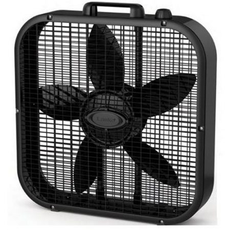 "Lasko B20401 Decor Box Fan, 20"", Black"