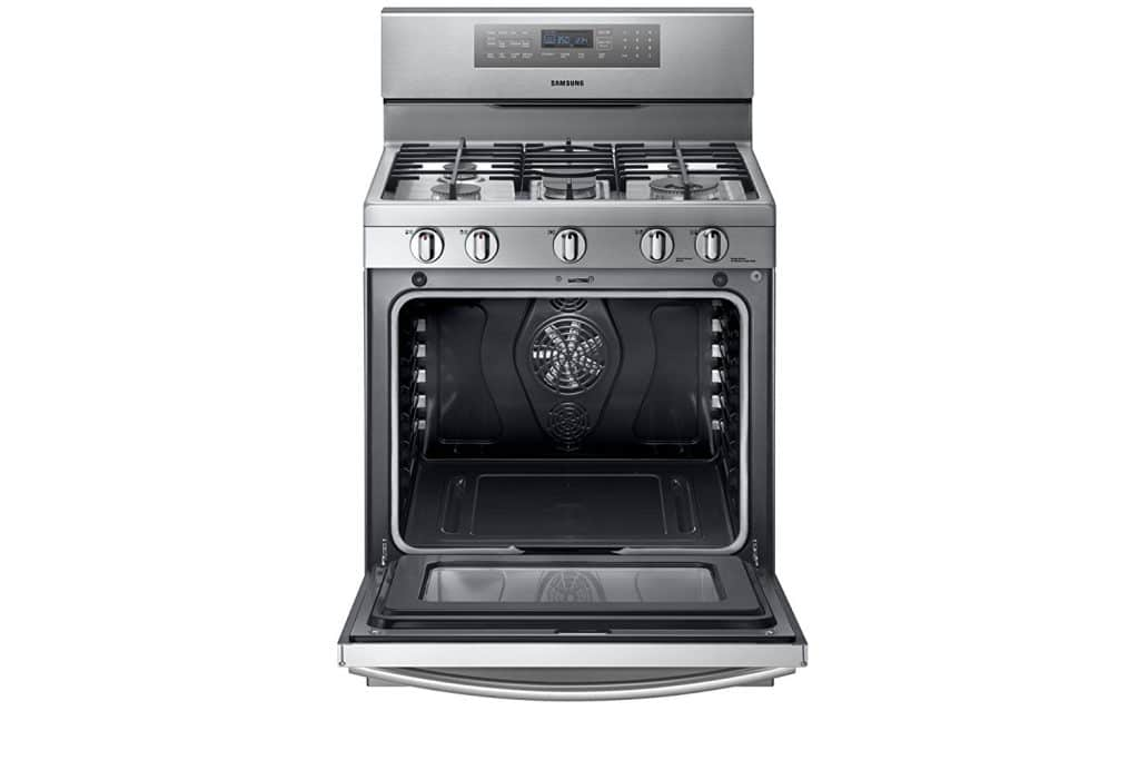 Samsung NX58F5700WS Stainless Steel Gas Range with True Convection