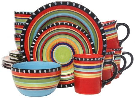 Gibson Elite Pueblo Springs 16-Piece Dinnerware set, Multicolor