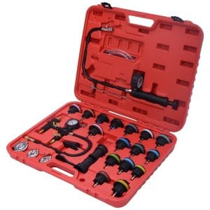 Goplus 27PCS Radiator Pressure Tester Vacuum Type Cooling System Purge and Refill Kit W/Case