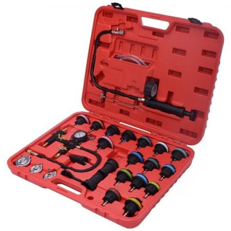 Goplus 27PCS Radiator Pressure Tester Vacuum Type Cooling System Purge and Refill Kit W/Case