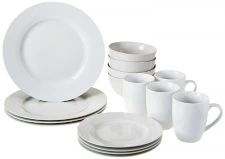 12. AmazonBasics 16-Piece Dinnerware Set Service for 4  sc 1 st  5productreviews & Top 12 Best Dinnerware Sets in 2018 - Buyeru0027s Guide (July. 2018)