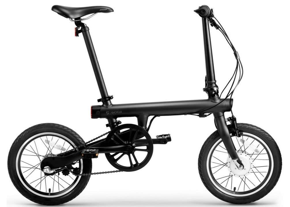 Juoos XiaoMi Mi Qicycle Electric Bluetooth Smartphone Lithium 16-inch Foldable Smart Bicycle
