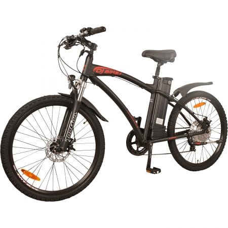 DJ Bikes Mountain 500W 7-Speed Electric Bicycle, 48V 13Ah Lithium-Ion Battery