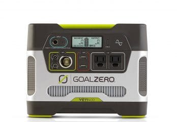 Goal Zero Yeti 400 Portable Power Station Kit with Boulder 50 Solar Panel,400Wh Battery Powered Generator with 12V, AC and USB Outputs