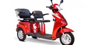 E-Wheels EW-66 2 Passenger Heavy Duty 500 Watt Electric Trike Three-Wheeled Mobility Scooter