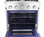 "Thor Kitchen HRG3080U 30"" Freestanding Professional Style Gas Range with 4.2 cu. ft"
