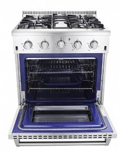 "Thor Kitchen HRG3080U 30"" Freestanding Professional Style Gas Range with 4.2 cu. ft"
