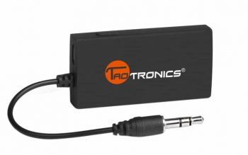 TaoTronics Wireless Portable Bluetooth Transmitter Connected to 3.5mm Audio Devices, Paired with Bluetooth Receiver