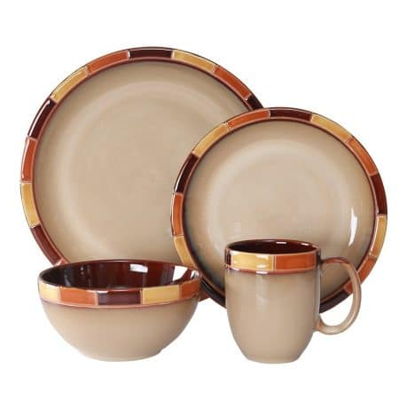 WhitePeony Mosaic Stoneware Reactive Best Dinnerware Set 16- piece  sc 1 st  5productreviews & Top 12 Best Dinnerware Sets in 2018 - Buyer\u0027s Guide (July. 2018)