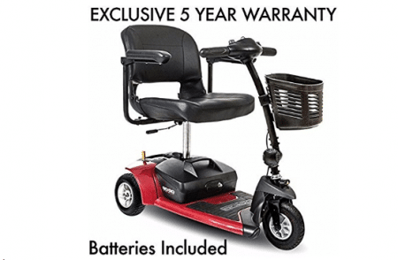 Go-Go Ultra X 3-Wheel Travel Mobility Scooter Including 5 Year Ext. Warr