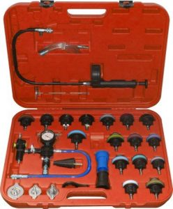 Generic 25pc Pneumatic Universal Radiator Pressure Tester & Vacuum Cooling System Kit