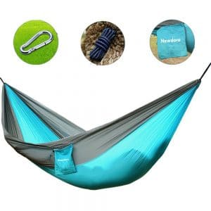 Newdora Camping Hammocks Garden Hammock Ultralight Portable Nylon Parachute Multifunctional Lightweight Hammocks