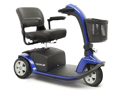 Pride Mobility Victory 10 Pride 3-wheel Electric Mobility Scooter SC610; Blue
