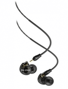 MEE audio M6 PRO Universal-Fit Noise-Isolating Musician's In-Ear Monitors with Detachable Cables (Smoke) - Waterproof Bluetooth Headphones