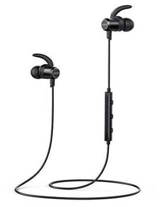 Anker SoundBuds Slim Wireless Headphones, Bluetooth 4.1 Lightweight Stereo Earbuds with Magnetic Connection - WaterproofBluetooth Headphones