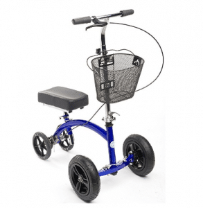 KneeRover HYBRID Knee Scooter with All Terrain Front Axle Upgrade