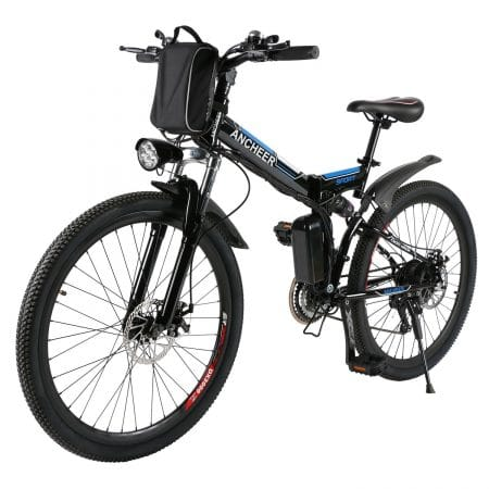 ANCHEER Folding Electric Mountain Bike with 26 Inch Wheel, Large Capacity Lithium-Ion Battery (36V 250W)
