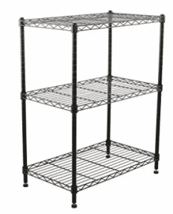 Finnhomy Supreme Steel Wire Shelving Unit with Stable Leveling Feet